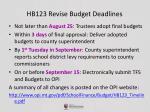 hb123 revise budget deadlines1