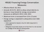 hb182 financing energy conservation measures