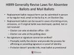 hb99 generally revise laws for absentee ballots and mail ballots1