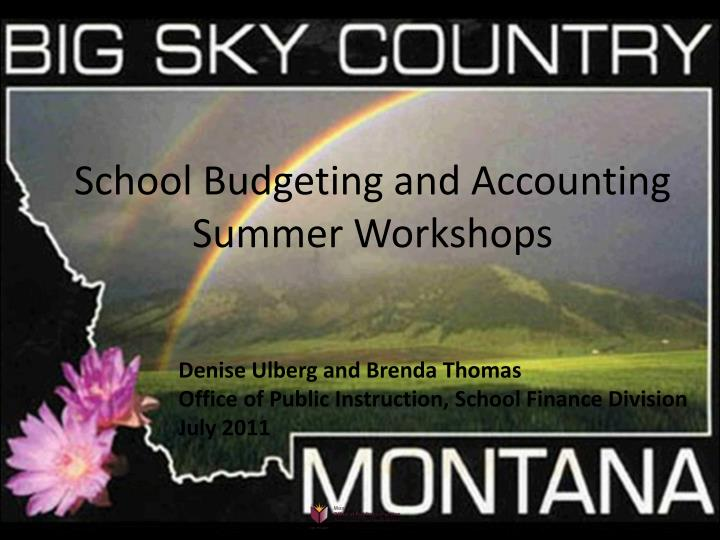 school budgeting and accounting summer workshops n.