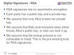 digital signatures rsa
