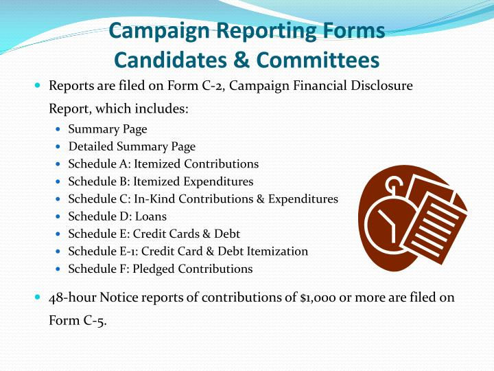 Campaign Reporting Forms