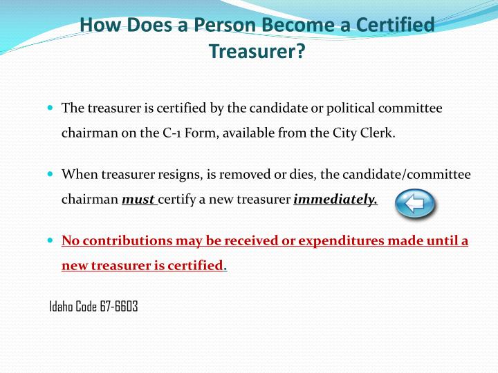 How Does a Person Become a Certified Treasurer?