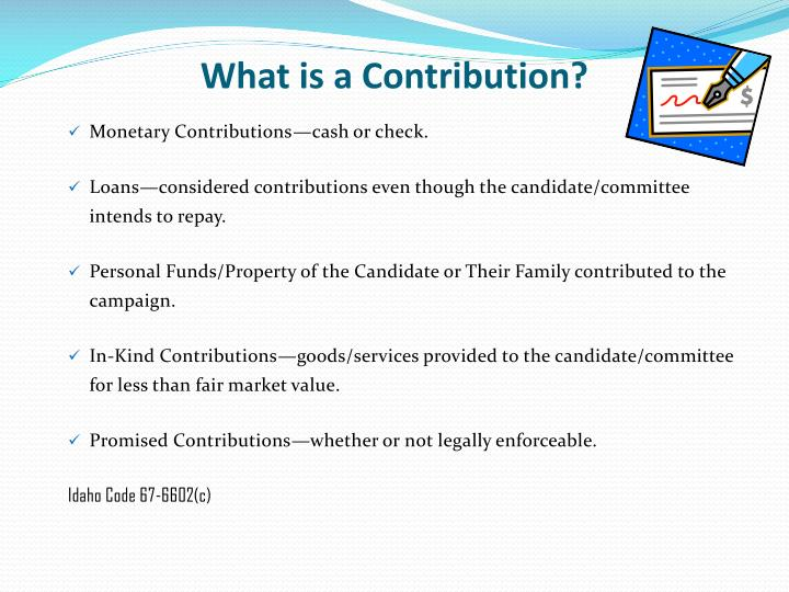What is a Contribution?