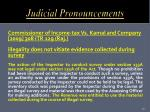 judicial pronouncements
