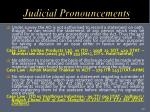 judicial pronouncements3