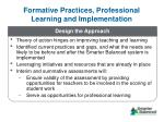formative practices professional learning and implementation1