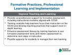 formative practices professional learning and implementation4