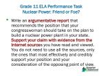 grade 11 ela performance task nuclear power friend or foe9