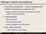 challenge 3 improve user experience
