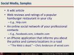 social media samples