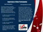 importance of voter participation