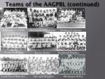 teams of the aagpbl continued