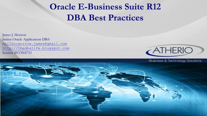 oracle e business suite r12 dba best practices n.