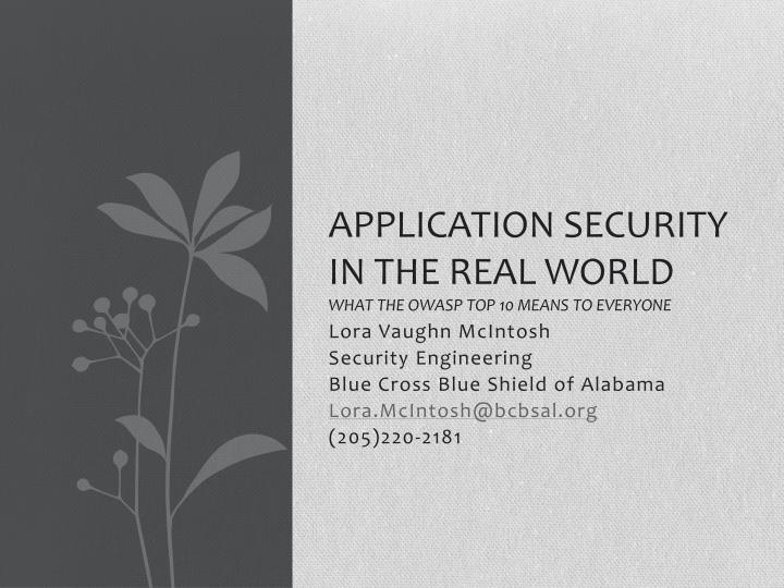 application security in the real world what the owasp top 10 means to everyone n.