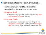 technician observation conclusions1