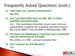 frequently asked questions cont1
