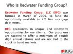 who is redwater funding group