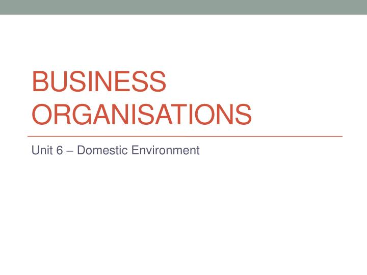 business organisations n.