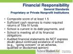 financial responsibility general standards proprietary or private nonprofit institutions
