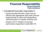 financial responsibility general standards public institutions