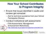 how your school contributes to program integrity2