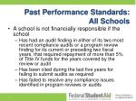 past performance standards all schools1