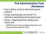 pell administrative cost allowance