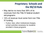 proprietary schools and the 90 10 rule
