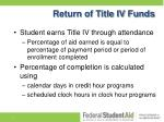 return of title iv funds1