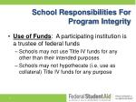 school responsibilities for program integrity2