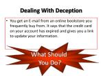 dealing with deception4