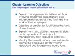 chapter learning objectives after completing this chapter you should be able to