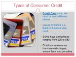 types of consumer credit1