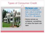 types of consumer credit3