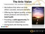 the ariix vision unleashing the human potential for good
