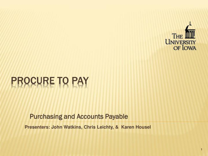 purchasing and accounts payable n.