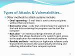 types of attacks vulnerabilities1