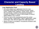 character and capacity based lending1