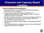 character and capacity based lending4