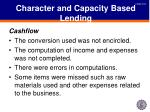 character and capacity based lending5