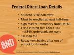 federal direct loan details