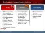 the solution session border controller