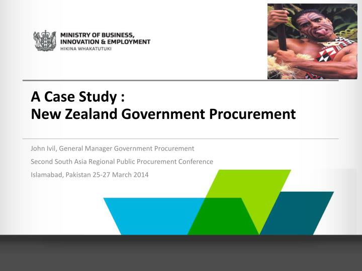 a case study new zealand government procurement n.