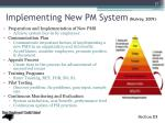implementing new pm system mulvey 2009