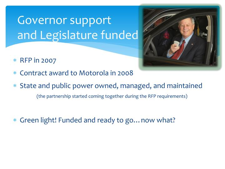 Governor support