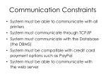 communication constraints
