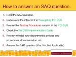 how to answer an saq question