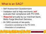 what is an saq