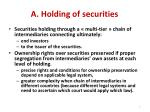 a holding of securities
